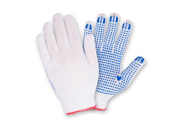 Перчатки х/б 10 кл. с ПВХ, 4 нитки.